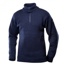 Devold-Nansen-Sweater-Zip-Neck-Dark-Blue-Melange-TC 386 410 A 280A