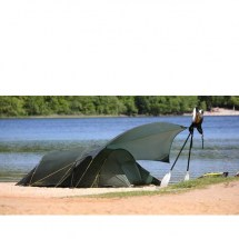 nordisk-oppland-3-si-112033-met tarp--tunnel-three-man-tent-forest-green-on-location-summer-1